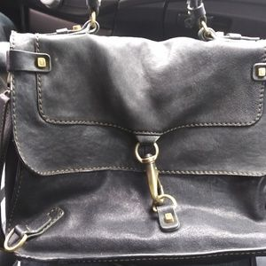 Luana leather messenger shoulder bag